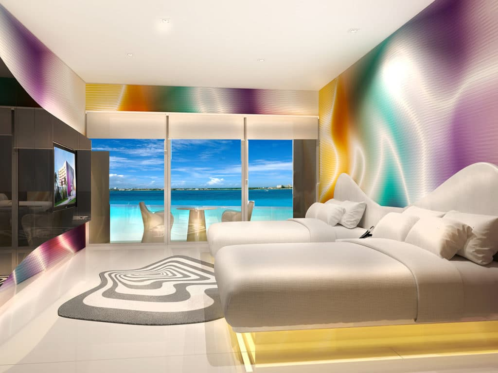Temptation Cancun Resort | Trendy Ocean View Room