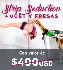Temptation Cancun Resort | Seducción Strip + Moët y fresas