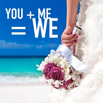Temptation Cancun Resort | You + Me = We Wedding Package