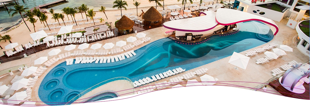 Sexy Pool Day - Temptation Cancun Resort