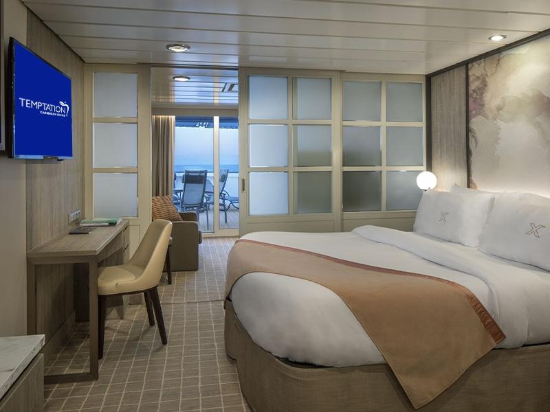 Temptation Caribbean Cruise 2022 - Suites & Staterooms