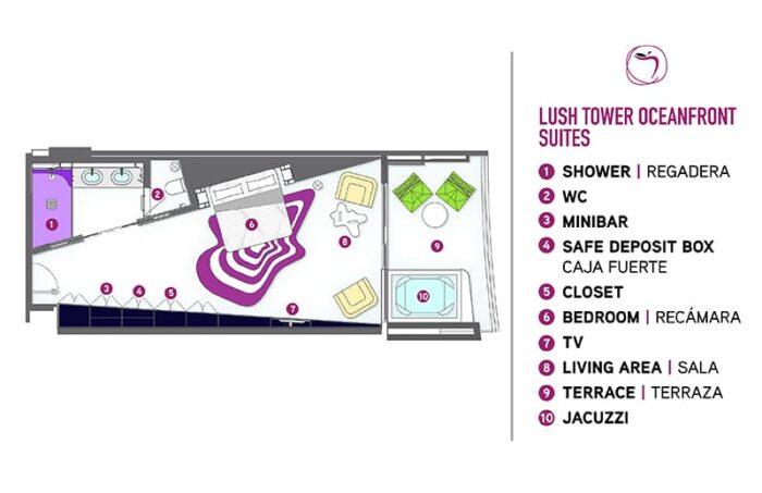 Temptation Cancun Resort | Lush Tower Oceanfront Suite