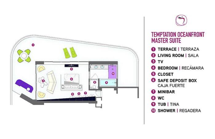 Temptation Cancun Resort | Temptation Oceanfront Master Suite